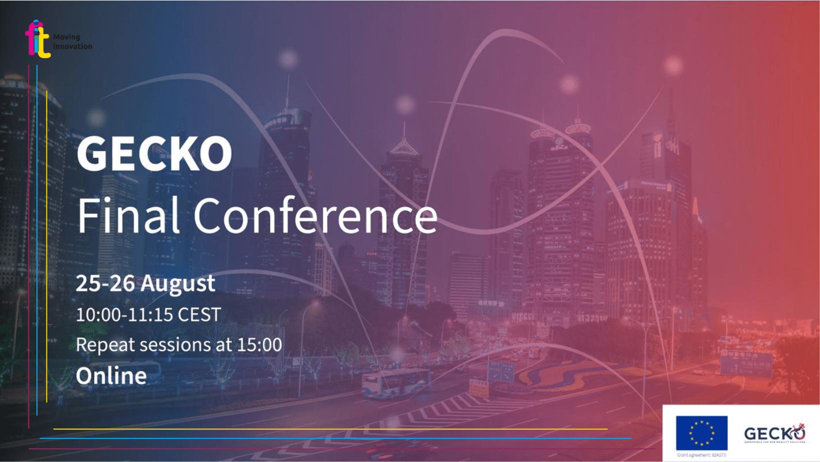 Una nuova era per la mobilità con il progetto GECKO, il 25 e 26 agosto online la conferenza finale